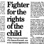 Fighter for the rights of the child