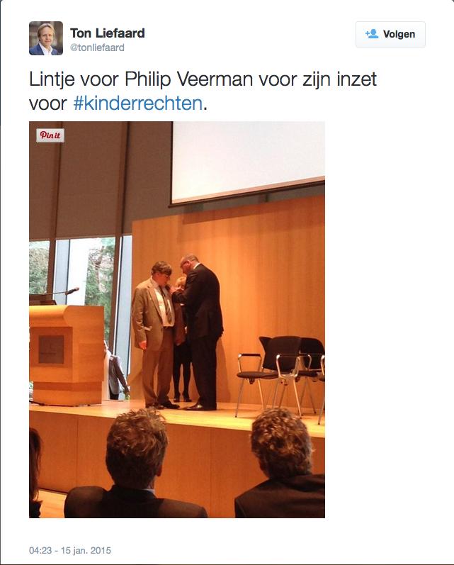 Lintje voor Philip Veerman voor zijn inzet voor #kinderrechten