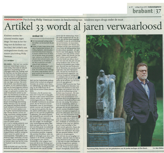 Interview met Philip Veerman in het Brabants Dagblad