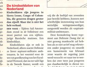 De Kindsoldaten van Nederland