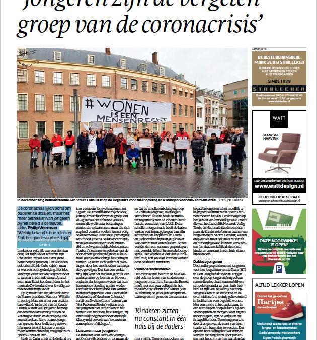 'Jongeren zijn de vergeten groep van de coronacrisis'